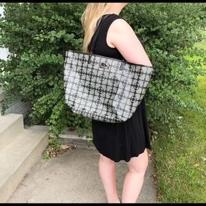 Kate Spade Oversized Printed Tote Black & Gray